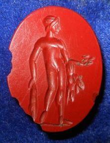 2th century roman Hercules jasper intaglio.