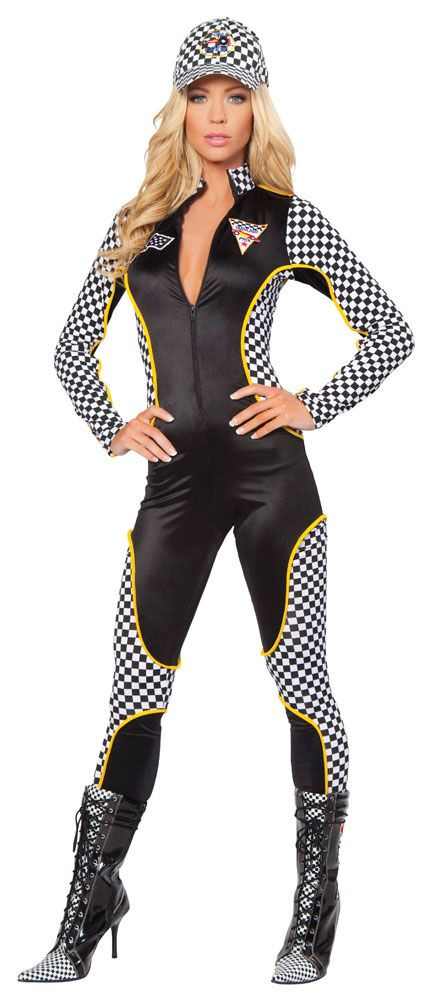 Sexy Race Car Driver Woman Costume Super Deluxe