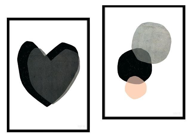 Les affiches pour enfants de seventy tree pastel style - Chambre enfant noir et blanc ...