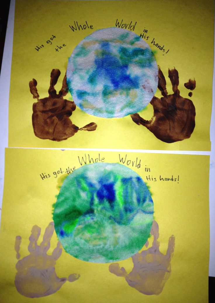 Letter W craft - He's got the whole world in His hands!