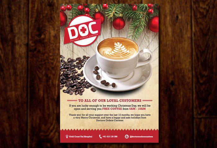 Cafe Christmas Poster Design