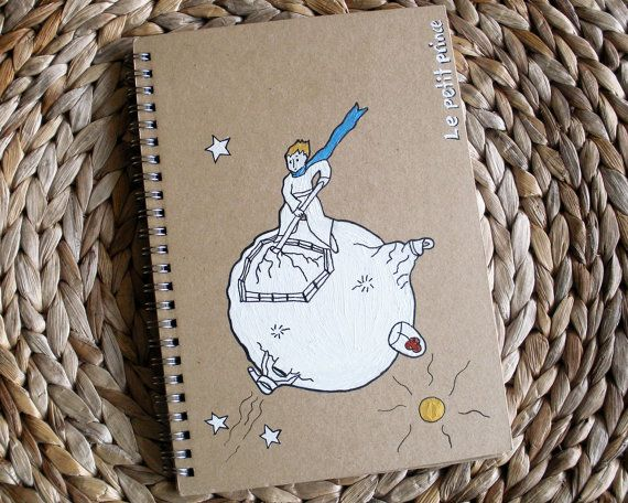 LITTLE PRINCE NOTEBOOK handpainted journal notebook by COLOR4FUN