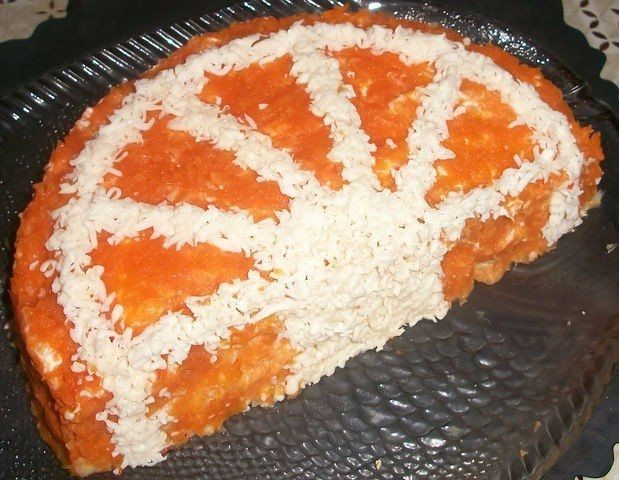 Фото к рецепту: Салат Апельсиновая долька