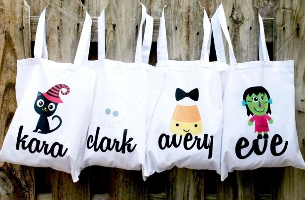 Personalized Halloween Tote Only $8.50! (11 designs)