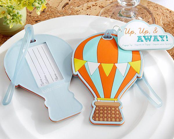 """Balloon Tag: """"Up, Up & Away"""" Hot Air Balloon Luggage Tag"""