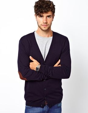 ASOS Cardigan with Elbow Patches