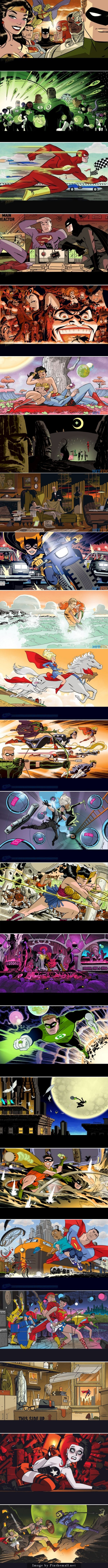 Darwyn Cooke faz as capas variantes dos gibis da DC de dezembro!... - a grouped images picture - Pin Them All