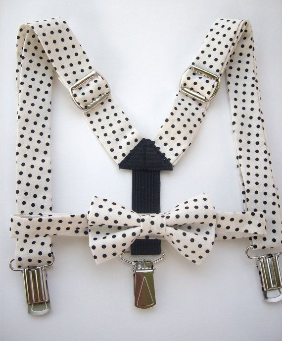 bow tie and suspenders for toddler boy  white with by golubchick, $35.00