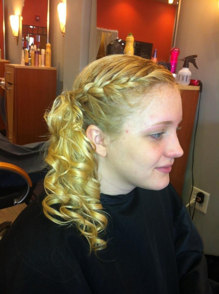 Braid + side curls