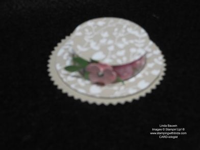 Bonnet Candy Favor Linda Bauwin - CARD-iologist Helping you create cards from the heart.