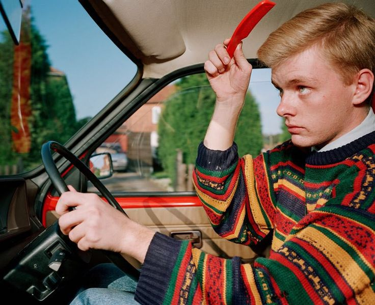 'As far as my social life is concerned the Metro is a no-go area. I think I'd look so much better sat in an XR2.' - From A to B. Tales of Modern Motoring. England GB 1994. by martinparrstudio
