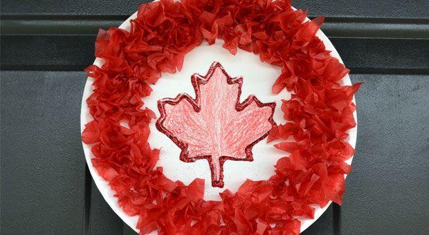 Canada Day wreath.