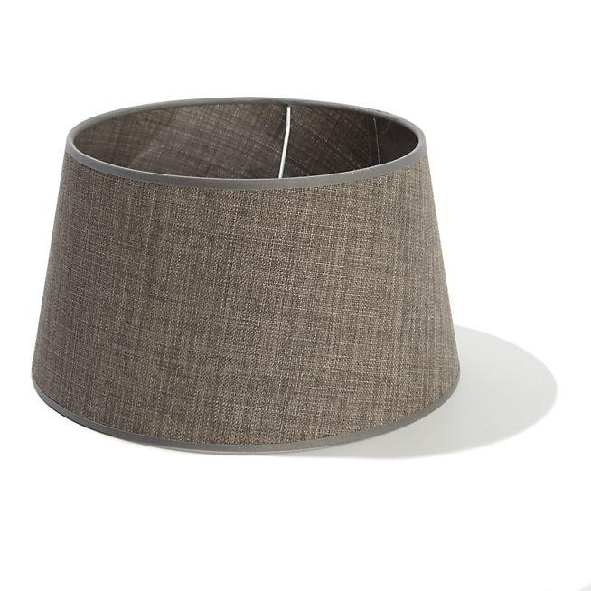 Finno Abat-jour conique gris D30cm