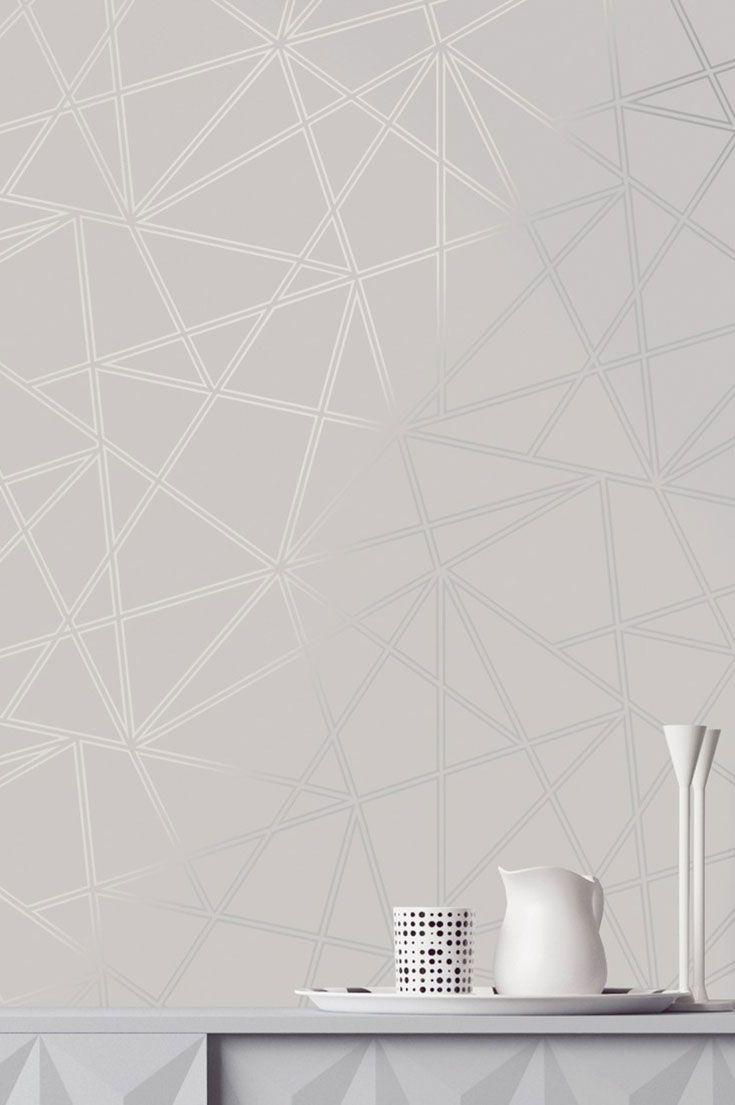 Papel De Parede Habakuk Papel De Parede Dos Anos 70 Pattern Wallpaper Geometric Wallpaper White Wallpaper