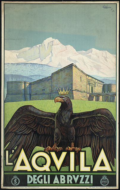 Title: L'Aquila. Degli Abruzzi    Created/Published: Italy : Printed in Italy by the E.N.I.T. (Italian State Tourist Department)    Date issued: 1934