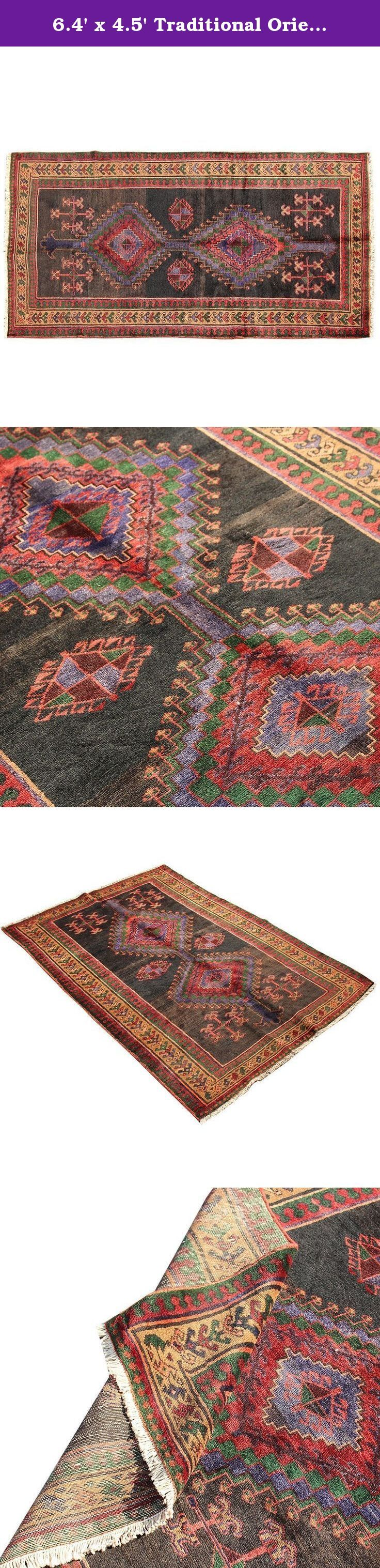 6.4' x 4.5' Traditional Oriental Area Rug, Floor Classy Carpet, Classical Fancy Handmade Rug, Red Turkish Rug.Code R0101669. Hand woven rug which comes from pure lamb wool sheared at the Beginning of spring and a mixture of organic colors. It would brighten up your place with its Brown and Black color. need to need to mention being free of any chemical colors. Size: 6.4' x 4.5' Weight: 27 LB Product's code: R0101669 As an advantages of years of being in this business our price is lower in...