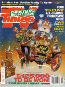 TV TIMES CHRISTMAS DOUBLE ISSUE 1993 DEC 18 1993 TO JAN 1 1994
