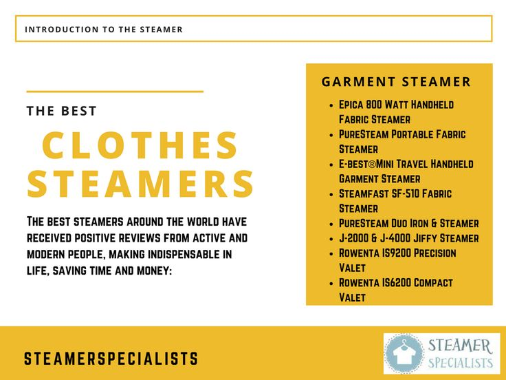 Honest garment steamer reviews and buyer's guides are just a few things we offer to help you find the best garment steamer on the market. http://www.steamerspecialists.com/