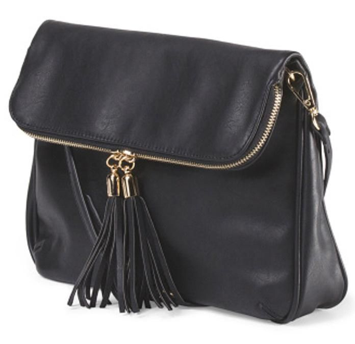 You can't beat a simple black messenger bag like this one from Emperia