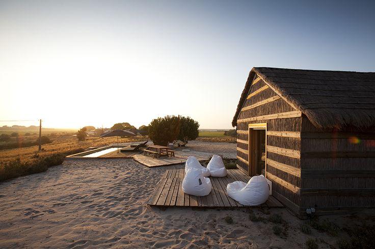 hotel, cabaña, rústico, madera, blanco, estilo, dekoloop, casa na areina