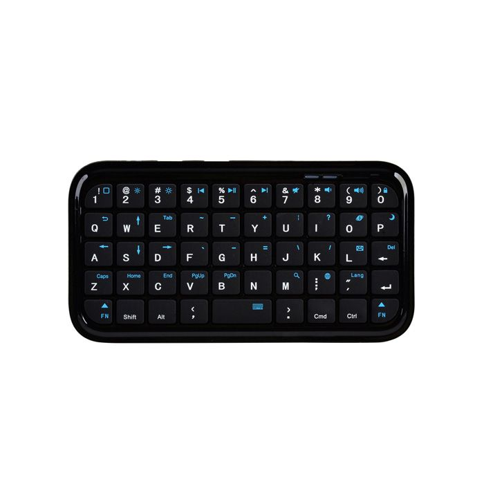 49-Key Mini Rechargeable Bluetooth Wireless QWERTY Keyboard - Black - Free Shipping - DealExtreme