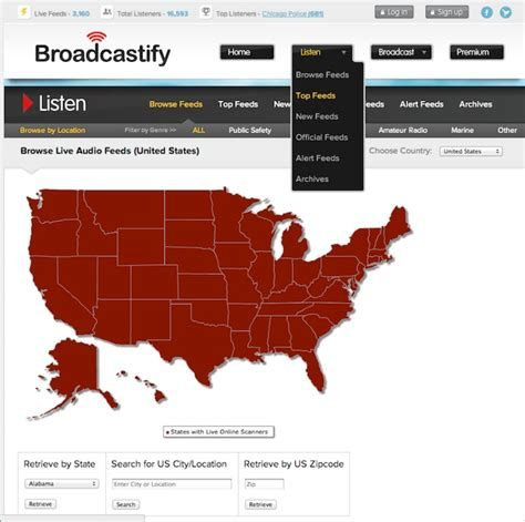 With 1000s of live emergency services scanners, Broadcastify allows
