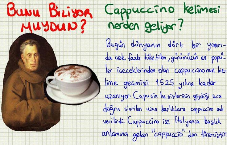 Bunu Biliyor muydun? - Cappuccino kelimesi nerden geliyor?