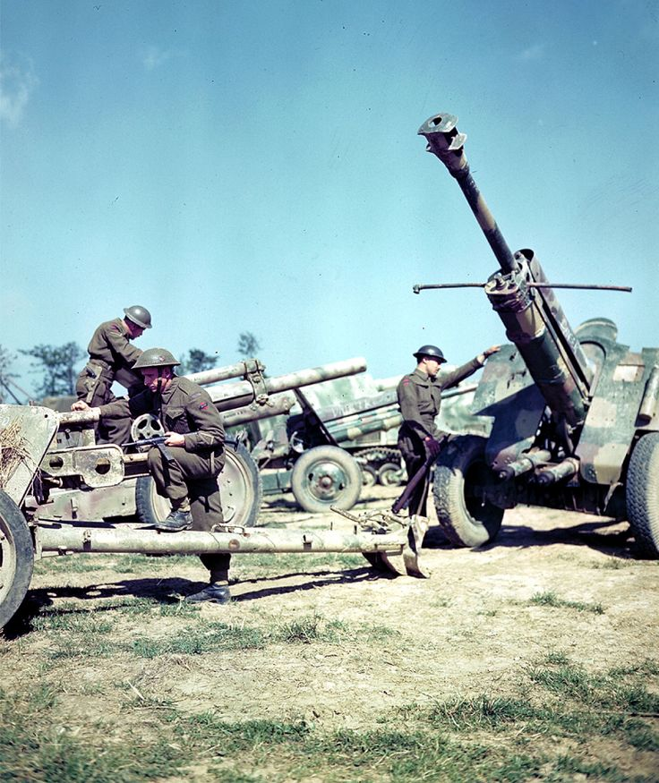 Normandy in Colour - Soldiers of the First Canadian Army in Normandy, France.