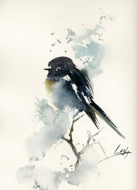 One Of A Kind Watercolour Artwork By Canotstoppainting Bird
