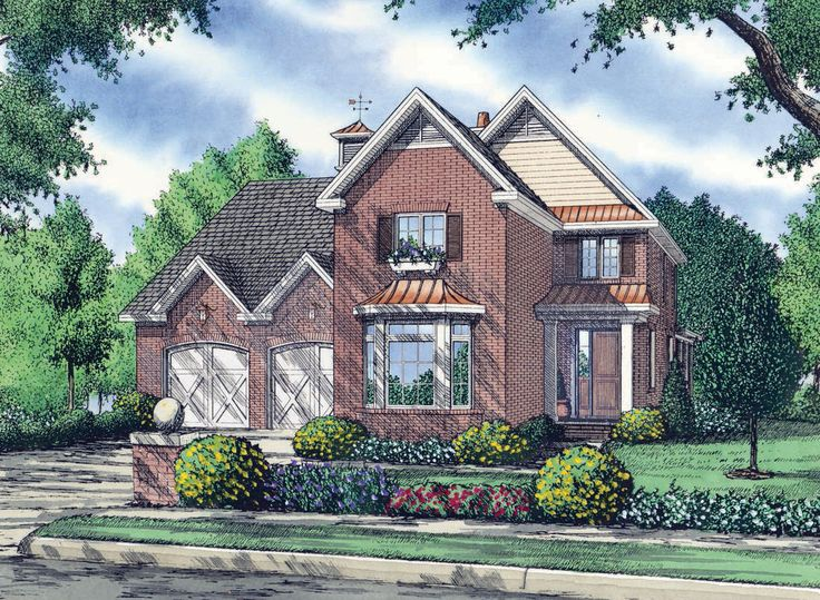 The Lyndhurst House Plan Front Color House plans