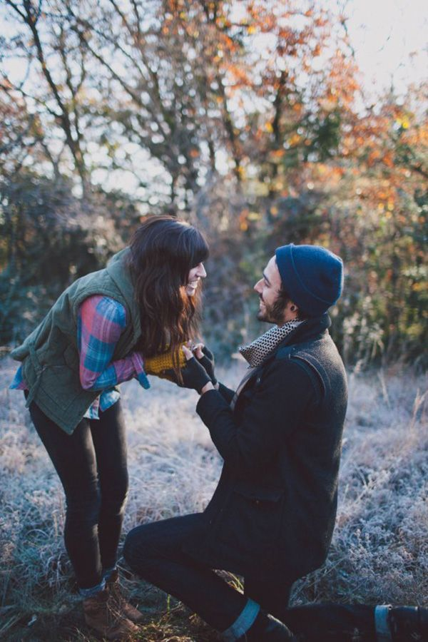 We might not experience fall quite like this in South Florida, but isn't this a dreamy proposal?