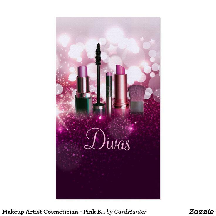 Cosmetician del artista de maquillaje - brillo tarjetas de visita