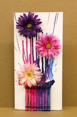 Melted Crayon Spring Bouquet - A Little Craft In Your DayA Little Craft In Your Day