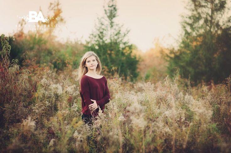 Britt Anderson Seniors senior girl posing field country