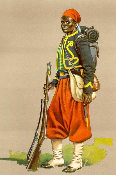 Brazilian Zouave, Paraguayan War or War of the Triple Alliance 1864-70