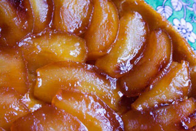 Torta de manzana invertida.