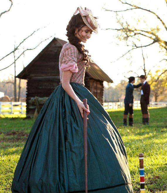 Vampire Diaries Katherine Pierce 1864 Croquet Gown