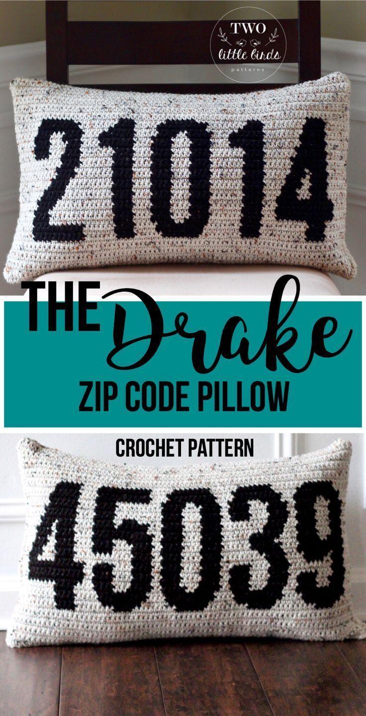 Crochet Zip Code Pillow Pattern Crochet Throw Pillow Etsy Crochet Pillow Pattern Crochet Pillow Cover Pillow Pattern