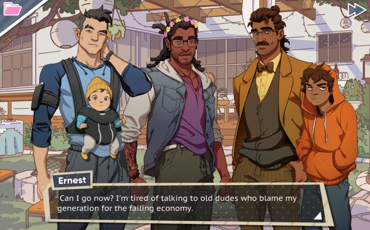 Dream Daddy is a new dating sim where you play as a father and date other fathers. On the surface, it looks like a light game about hot dads and the dad jokes they make. It is that, but it's also a sincere look at what it's like to be a father.