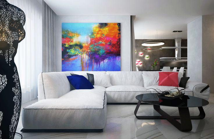 Интерьер в стиле современного ар-деко от студии интерьеров Динары Юсуповой U-Style.
