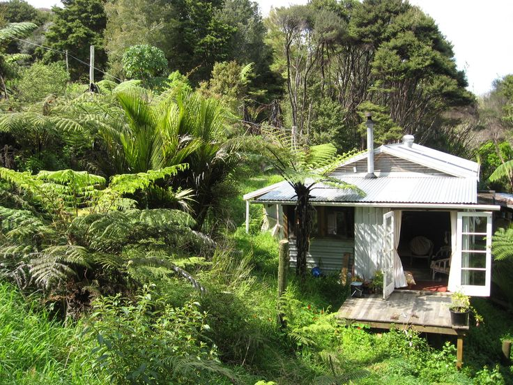 """A """"bach"""" on the edge of Hokianga Harbour in Northland, New Zealand."""