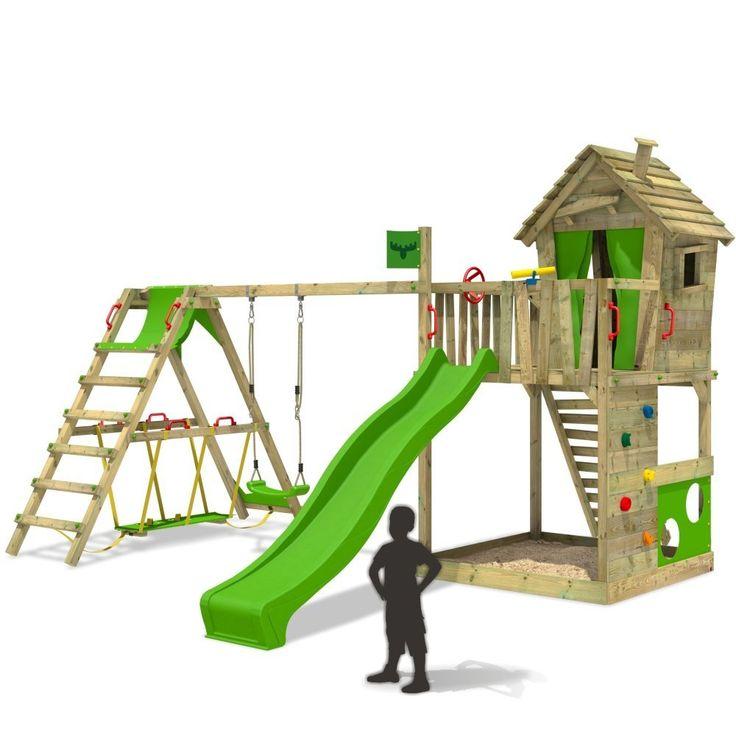 Great Spielturm mit Schaukel HappyHome Hot XXL Weitere Klettert rme mit Spielhaus findest du in unserem FATMOOSE Online Shop Tolles Design g nstige Preise