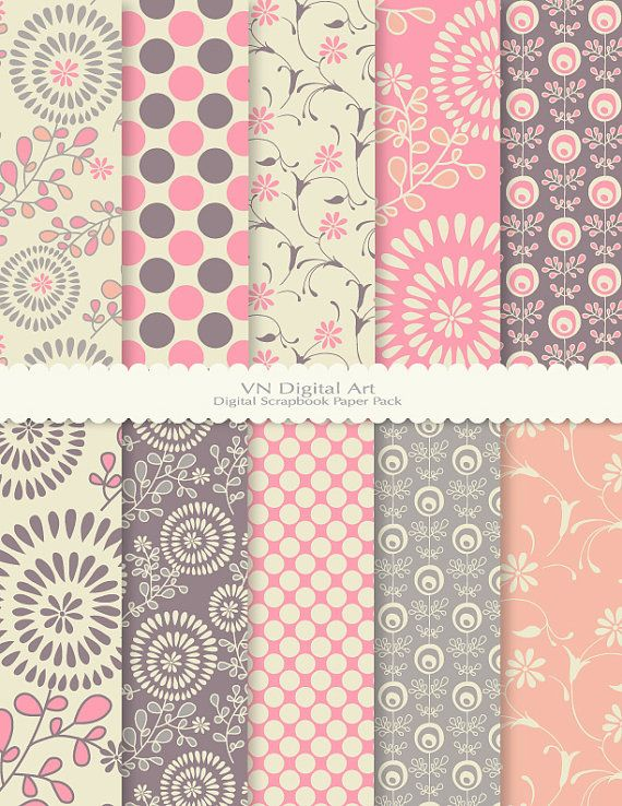 Firework Flower Digital Scrapbook Paper Pack by VNdigitalart, $3.00