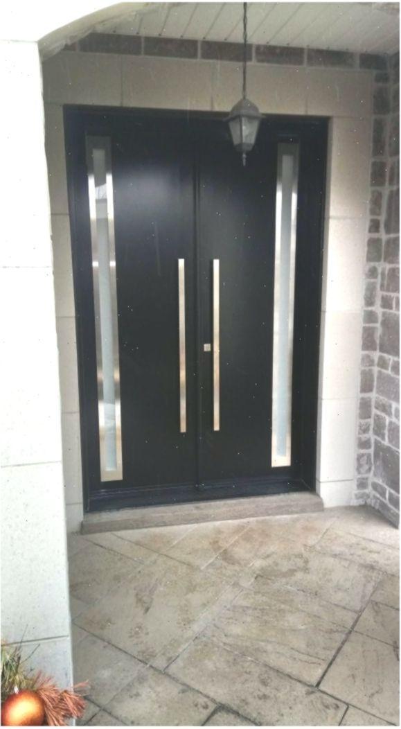 Modern Double Door Black Exterior Door Doublefrontentrydoors Modern Double Door Doubledoor In 2020 Black Exterior Doors Modern Exterior Doors Double Doors Exterior