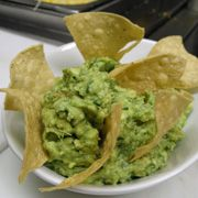 Guacamole with homemade tortilla chips. Recipe courtesy of Christy Vega Fowler of Casa Vega Restaurant in Sherman Oaks