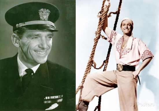 """Douglas Fairbanks Jr. He played a lot of swashbucklers on screen but Douglas Fairbanks Jr. was quite the real life swashbuckler.  As an officer in the US Naval Reserve he worked as a liaison to the British commandos. It almost sounds like something out of a movie.  He was so impressed with the British commando tactics that he proposed something similar for the US Navy. This was the start of the Navy's """"Beach Jumpers"""". but they were like Navy SEALs ."""