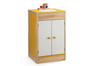 Colourful Wooden Kitchen Sink – 40x35x66cm