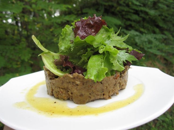 Savoureux ! - Recette Entrée : Caviar d'aubergine et jeunes pousses de salade par Fantaisie