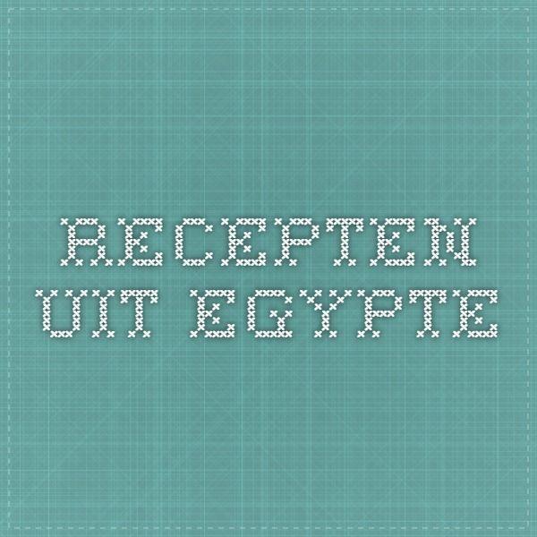 Recepten uit Egypte