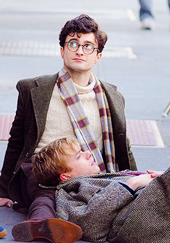 Daniel Radcliffe @ Kill Your Darlings Set. #he looks more like Harry Potter than he did in Harry Potter